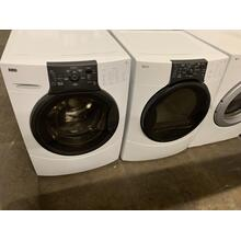 Refurbished  White Kenmore Elite Front Load Washer Dryer Set On Pedestals Please call store if you would like additional pictures. This set carries our 6 month warranty, MANUFACTURER WARRANTY AND REBATES ARE NOT VALID (Sold only as a set)