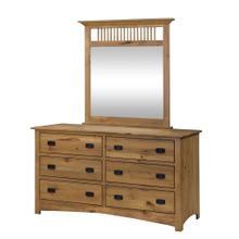 Mission Dresser with Mirror