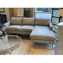 View Product - MODERN LEATHER SOFA WITH CHAISE