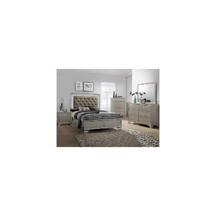 Queen Bed, Dresser/Mirror, Nightstand, and Chest