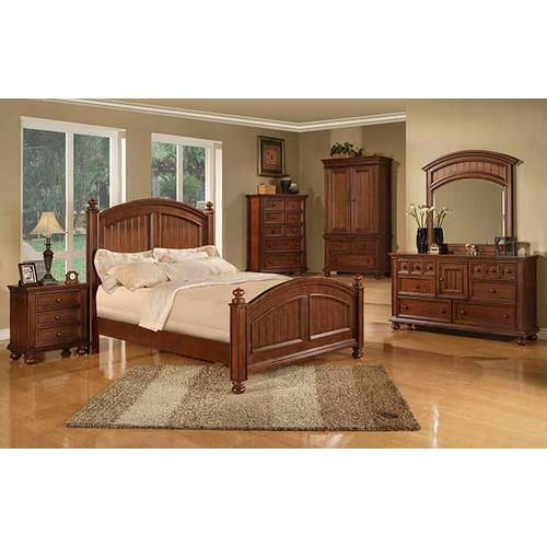 Cape Cod Chocolate Queen Panel Bed