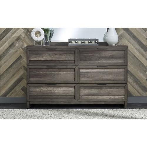 Tanners Creek -  6 Drawer Dresser in Greystone Finish