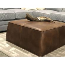Joslyn Square Leather Ottoman