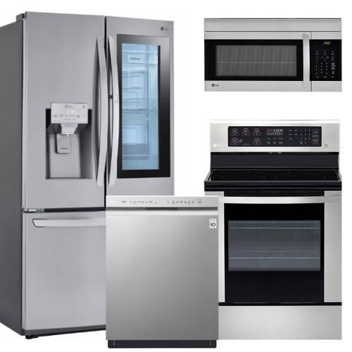 LG Premium Stainless Steel Kitchen Suite with Instaview Refrigerator - before rebate