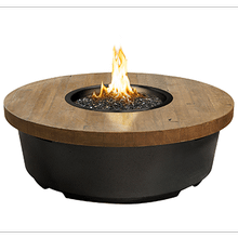Contempo Round Firetable French Barrel Oak