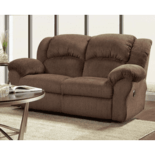 RECLINING LOVESEAT in ASPEN CHOCOLATE   (1002)