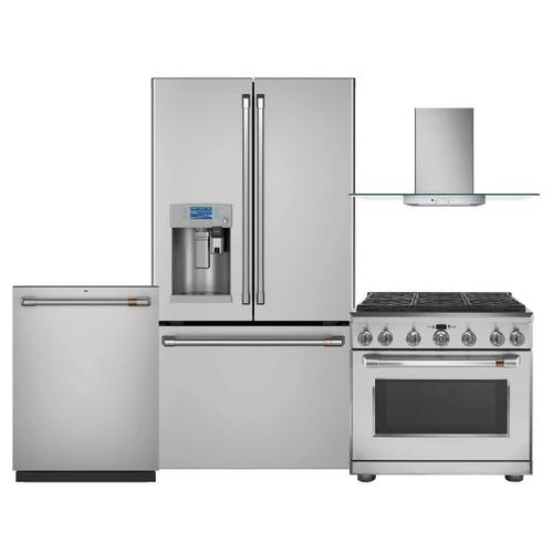 """Cafe Luxury Kitchen Package with 36"""" Dual Fuel Range - Stainless Steel - Before Rebate"""