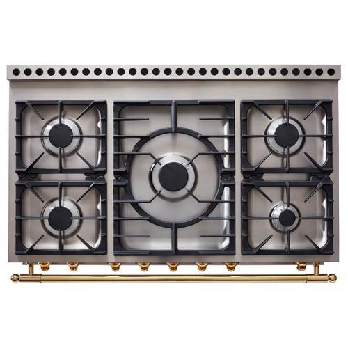 Lacornue Cornufe - Pure White Cornufe 110 with Polished Brass Accents