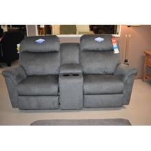 See Details - Power rocker loveseat with console and tilt headrest