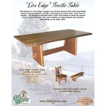 """Live Edge"" Trestle Table"
