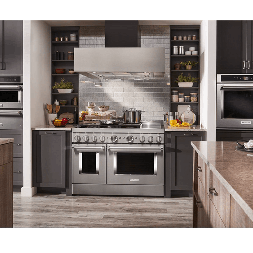 KitchenAid® 48'' Smart Commercial-Style Gas Range with Griddle