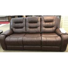 Klaussner Home Furnishings Hubble Power Reclining Sofa - Mika Brown