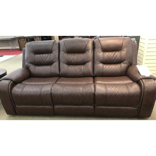 Klaussner - Klaussner Home Furnishings Hubble Power Reclining Sofa - Mika Brown