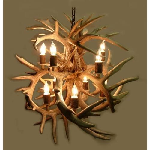 American Natural Resources - Fireball 10 Light Chandelier