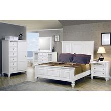 Sandy Beach White Queen Panel Bed