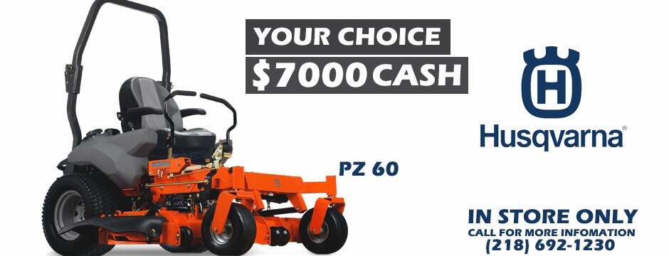 Your Choice  $7900 Cash PZ-60