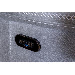 Next-gen Durapella Power Recliner W/Adjustable Headrest Slate