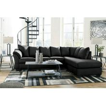 Darcy Black 2pc. L-Shaped Sectional