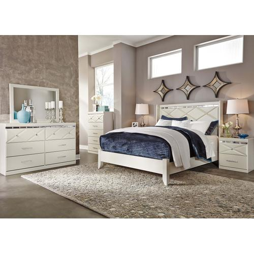 Dreamur - Queen Panel Bed, Dresser, Mirror, 1 X Nightstand