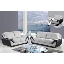 U3250 - Nat-Grey/Nat-Black - Loveseat