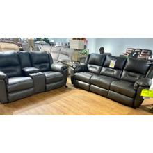 Maximus Fossil Leather Power Reclining Sofa & Loveseat