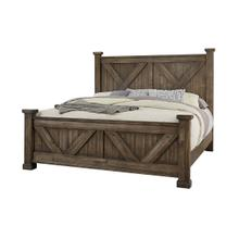 Cool Rustic Collection - X Bed - Mink