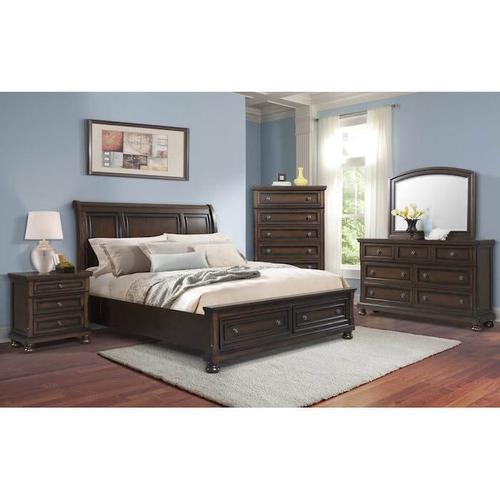 Elements - Kingston - Queen Bedroom - Queen Sleigh/Storage Bed, Dresser, Mirror