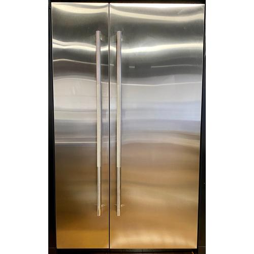 "JennAir JBZFL18IGX    18"" Built-In Freezer Column (Left-Hand Door Swing) *Panel Ready - Sold with Stainless Steel Panels* /SOLD AS SET(JBRFR30IGX)"