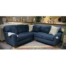 ANNABEL 3-PC Stationary SECTIONAL in Indigo     (BEST-M81)