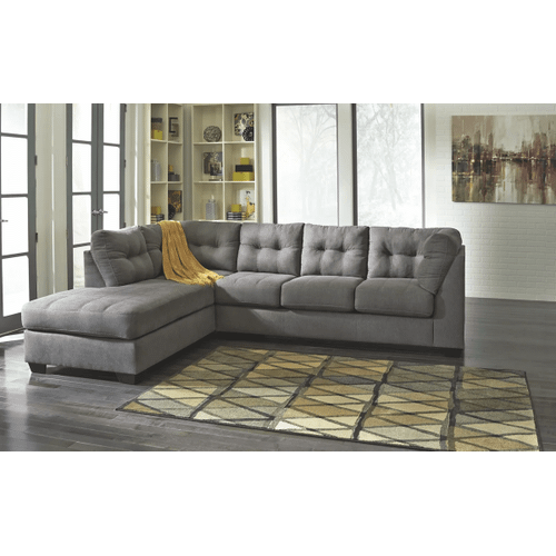 Maier - Charcoal - 2-Piece Sectional with Left Facing Chaise