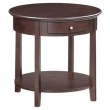 See Details - McKenzie round end table
