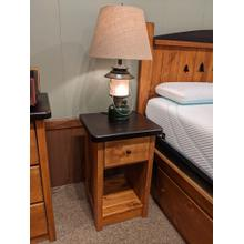 See Details - Promo Pine 1-Drawer Nightstand