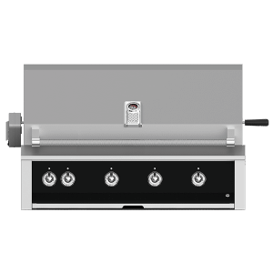 "Aspire By Hestan 42"" Built-In Grill With U-Burner, Sear, And Rotisserie NG Stealth Black"