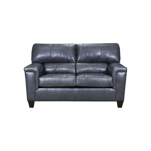 LANE 2038-02 Soft Touch Leather Fog Loveseat