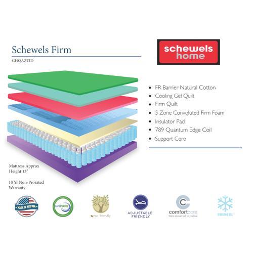 Symbol Mattress - SYMBOL MATTRESS GHQAZTID Schewels Home Firm Mattress & Foundation