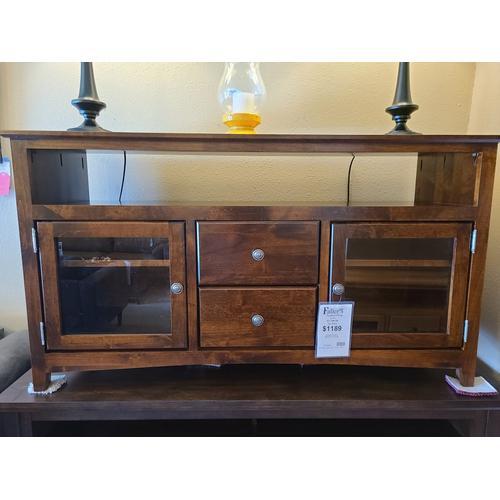 "Archbold Furniture - TV Console 54"" Standard - Vintage Cherry"