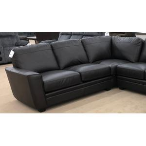 3 Piece Leather Sectional - Chocolate Leather