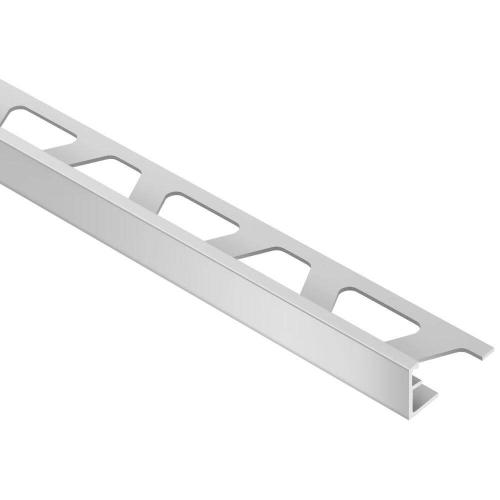Schluter - Schiene Satin Anodized Aluminum 3/8 in. x 8 ft. 2-1/2 in. Metal L-Angle Tile Edging Trim