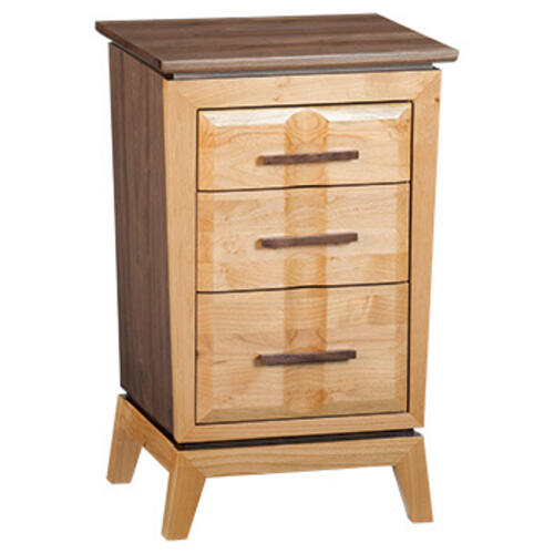 DUET Small 3Drawer Addison Nightstand Duet Finish