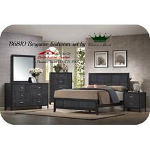 Crown Mark Furniture B6810 Bergamo Bedroom set Houston Texas USA Aztec Furniture