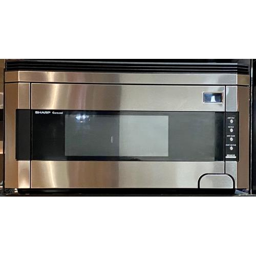 Sharp R1514T  1.5 cu. ft. 1000W Sharp Stainless Steel Over-the-Range Carousel Microwave Oven