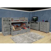 Urban Ranch Twin/Full Bunk Bed Urban Gray