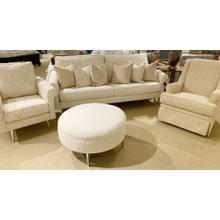 Capris King Sofa, Swivel Glider, Chair & Round Ottoman Set