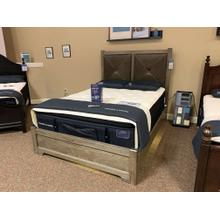 View Product - Queen X Bed with Upholstered Headboard - Style # ALE-172