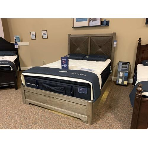 Queen X Bed with Upholstered Headboard - Style # ALE-172