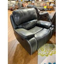 El Paso Steel Leather Rocker Recliner