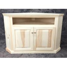 Maine Made Corner TV Stand 32.5W X 30H X 32.5D Pine Unfinished