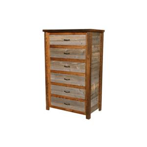 Natural Barn Wood 6 Drawer Chest
