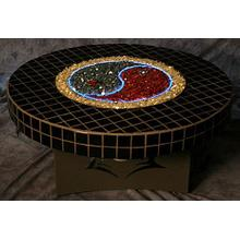Oriflamme YingYang Round Fire Table