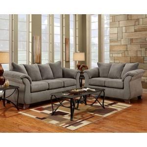 6700 Sensation Grey Sofa and Loveseat